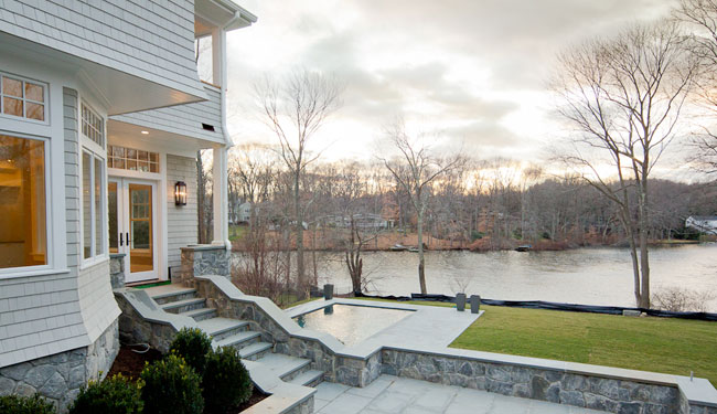 Milton Westport colonial with waterfront views of Nash pond.